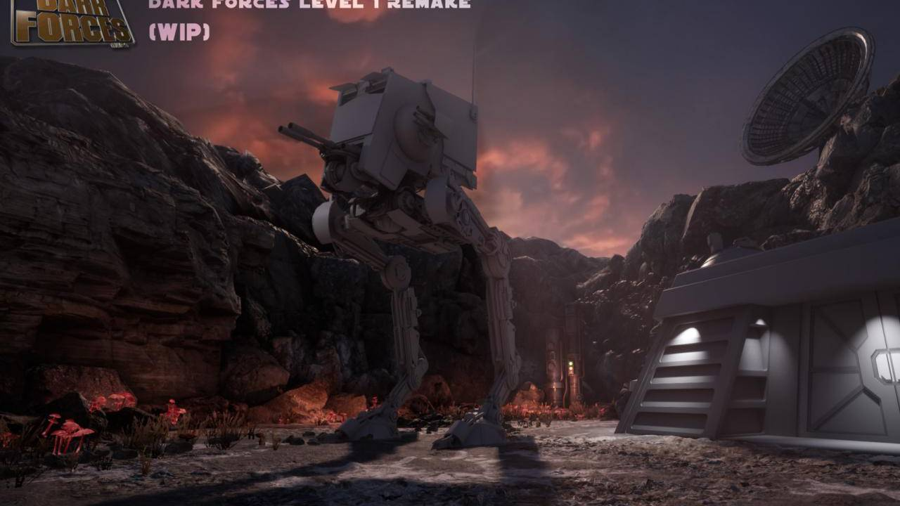 1995 Star Wars: Dark Forces unofficially recreated in Unreal Engine