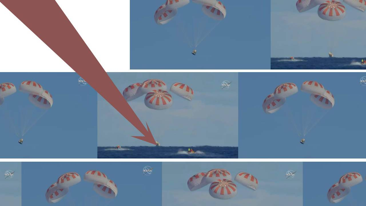 NASA shares SpaceX Crew Dragon splashdown video after milestone mission