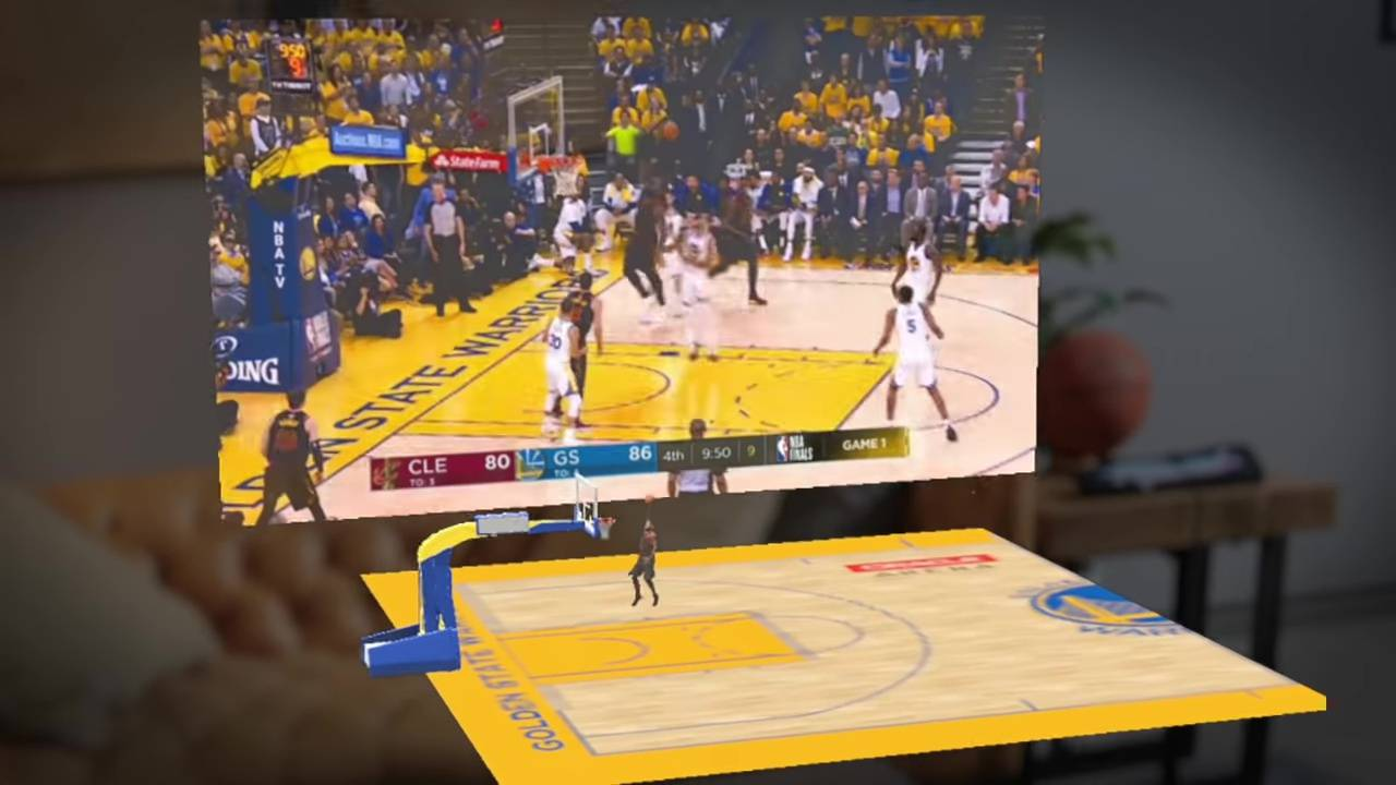Magic Leap NBA app puts up multiple virtual screens in your room
