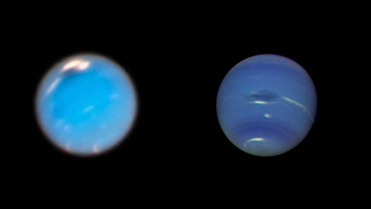 NASA uses Hubble to track massive storms on Neptune
