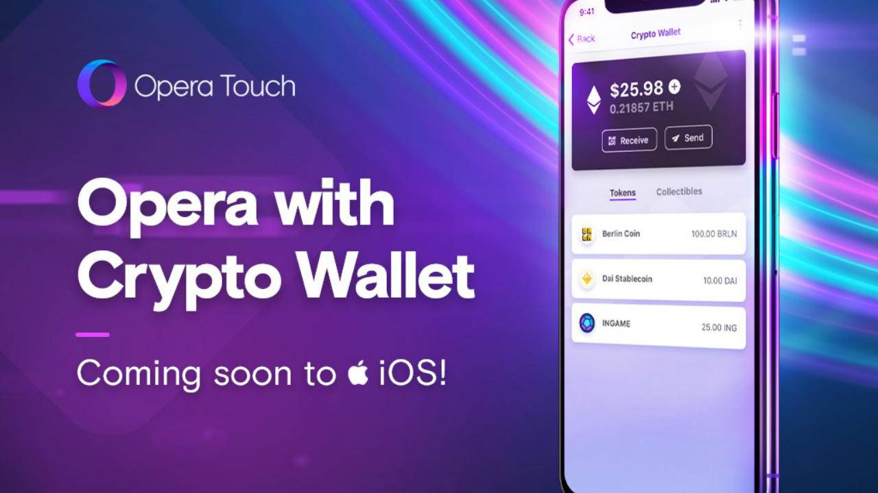 Opera Touch on iOS to get crypto wallet, Web 3 features