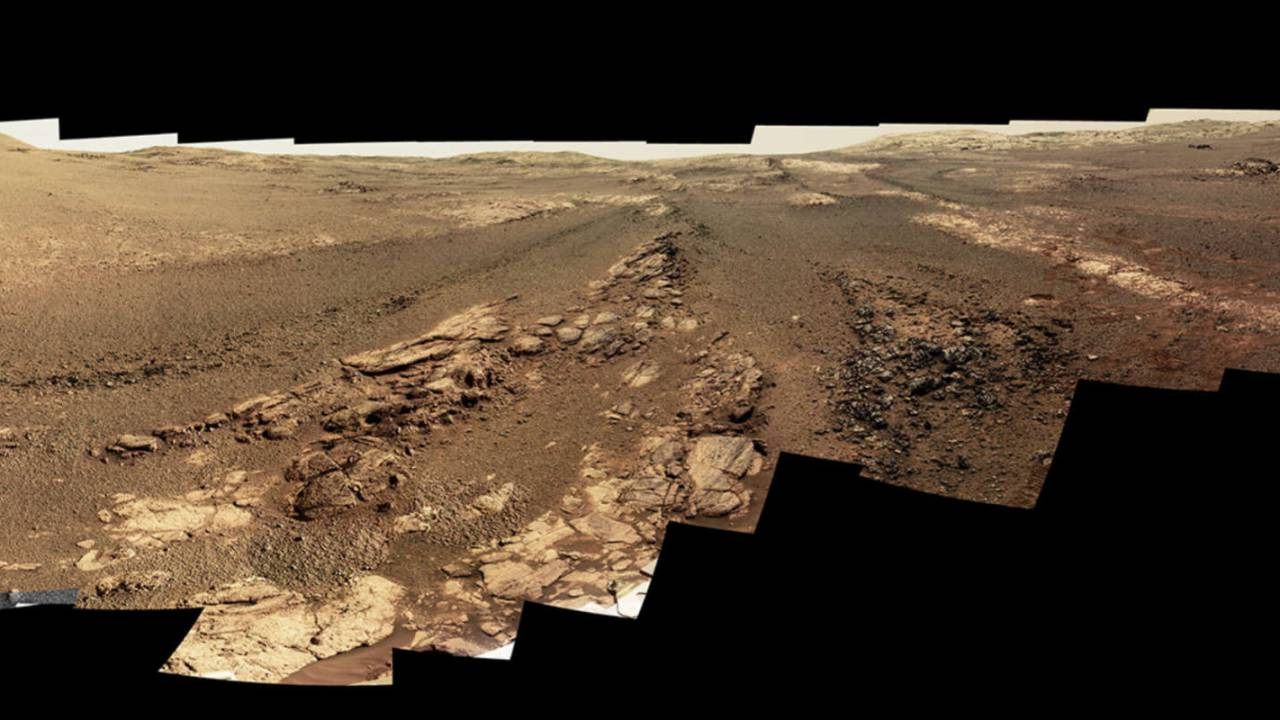 NASA Opportunity rover's last panorama shows its final resting place