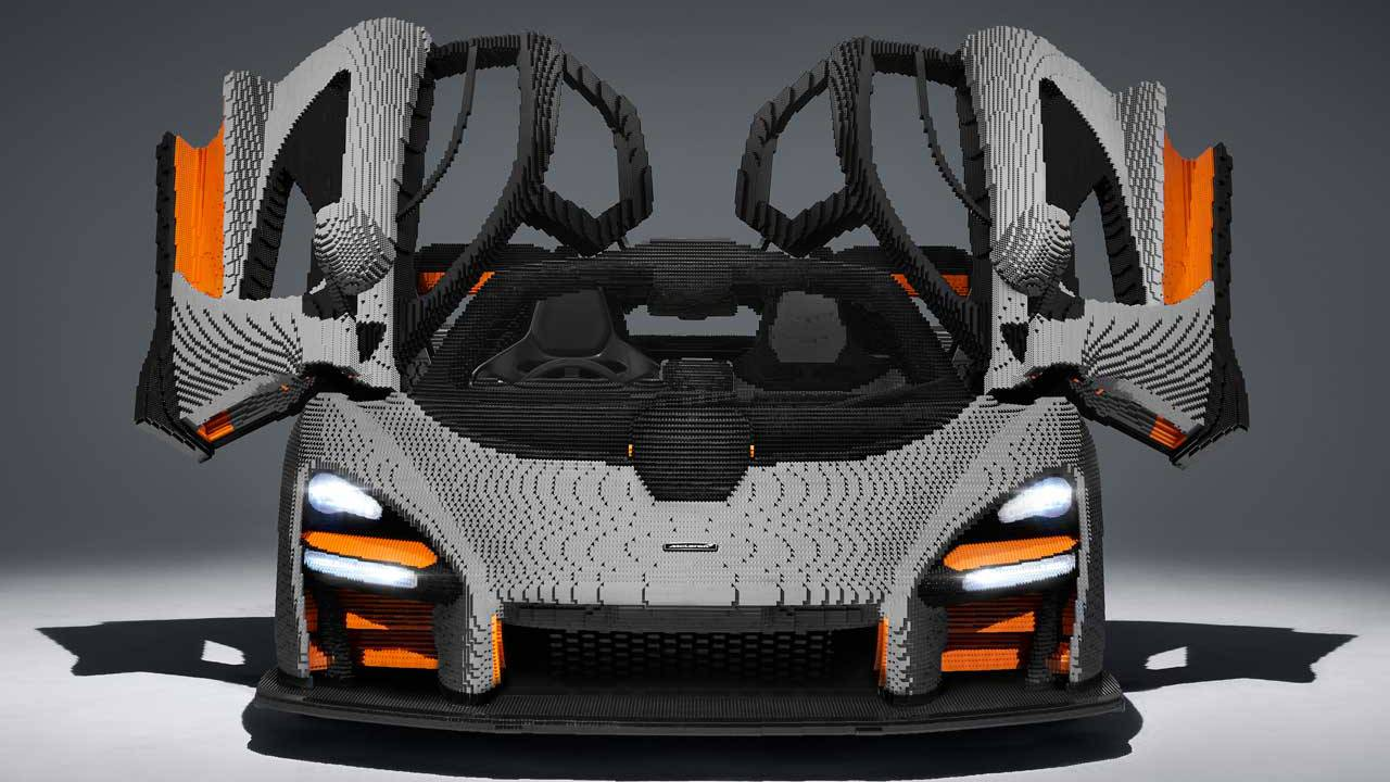 Life-size Lego McLaren Senna weighs more than the real thing