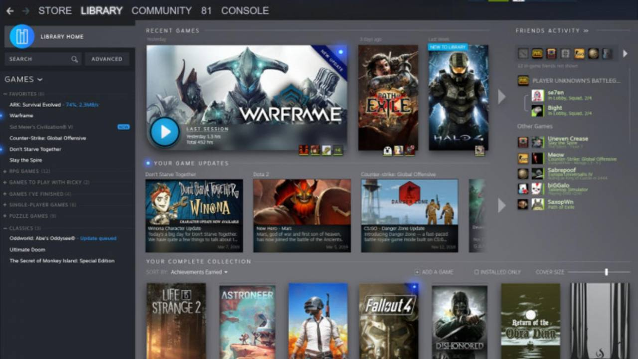 Valve reveals major Steam library redesign and new events