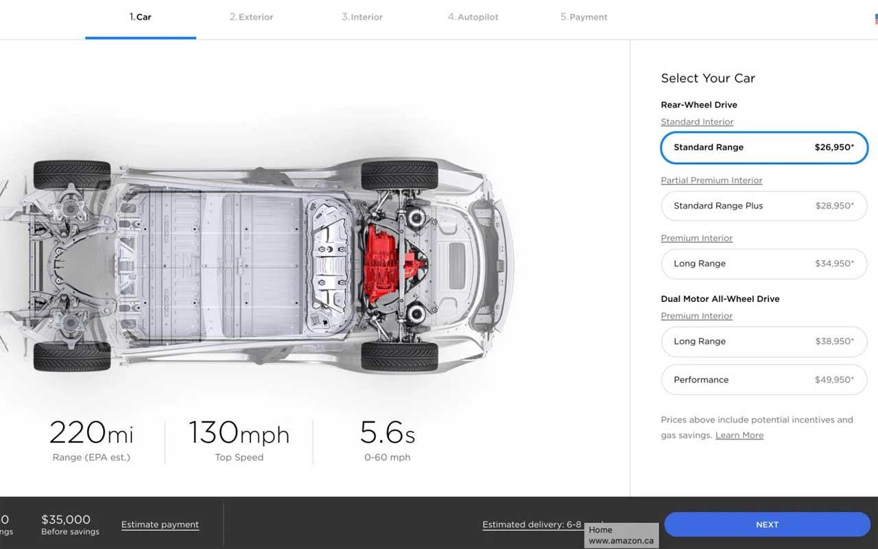 Tesla Model 3 mid range battery pack option axed - SlashGear