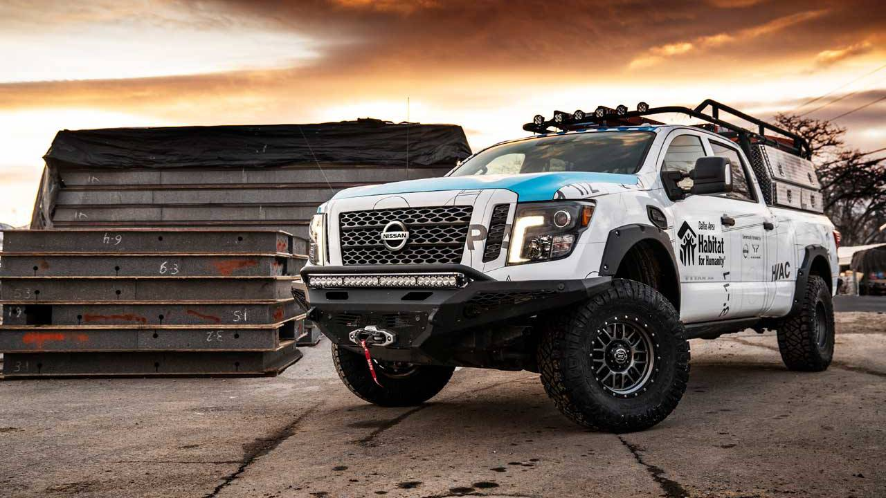 Nissan builds slick custom diesel Titan XD for Habitat for Humanity
