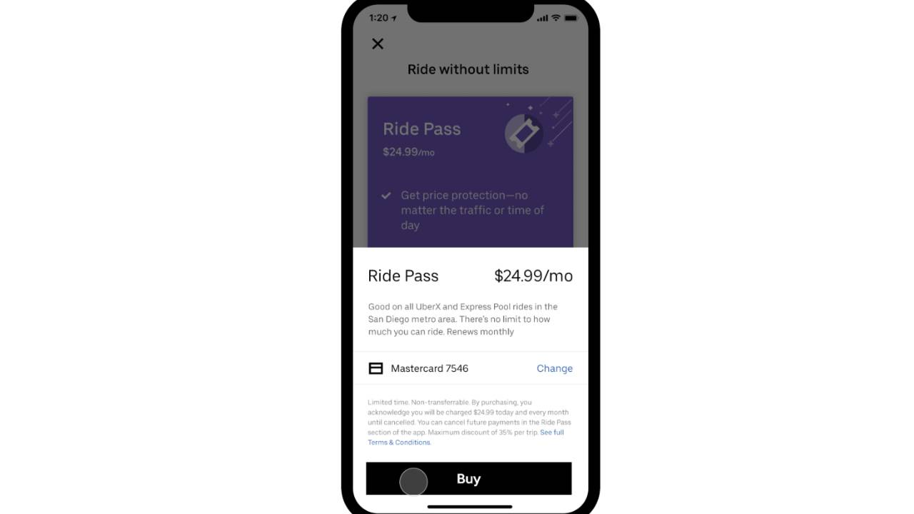 Uber brings its Ride Pass plan to another 20 major markets