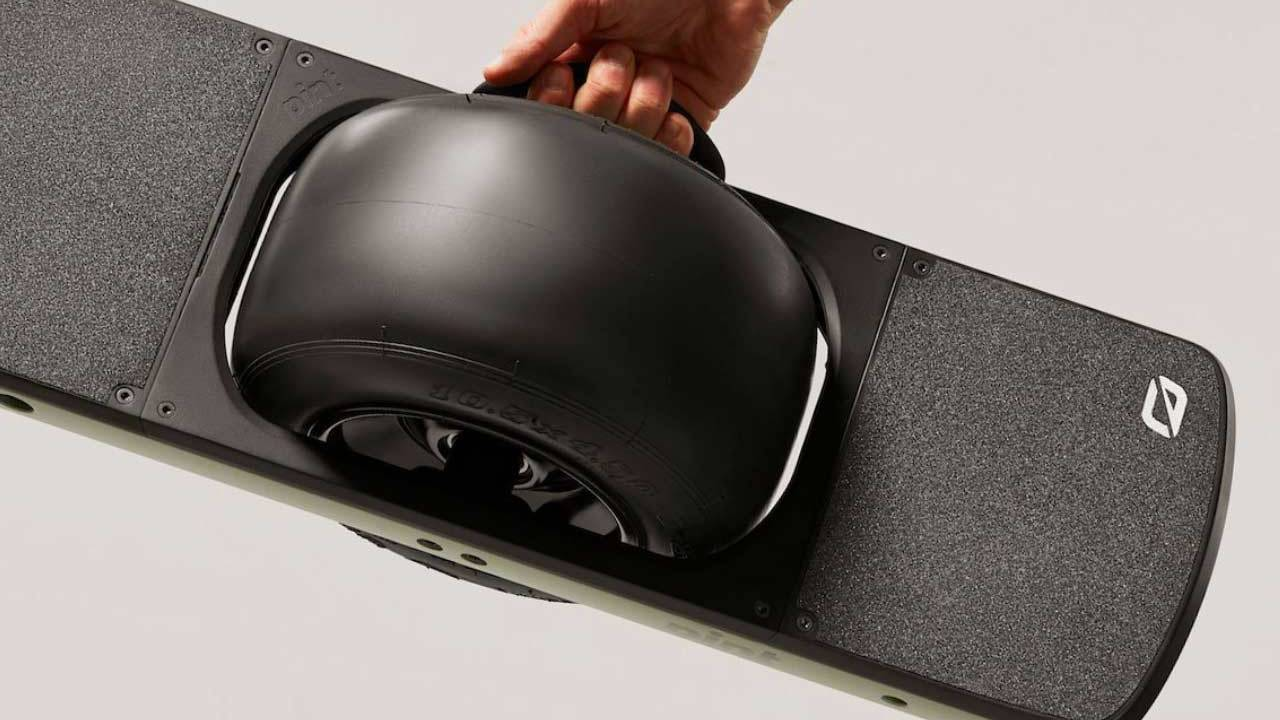 Onewheel Pint is a smaller, more affordable one-wheeled skateboard