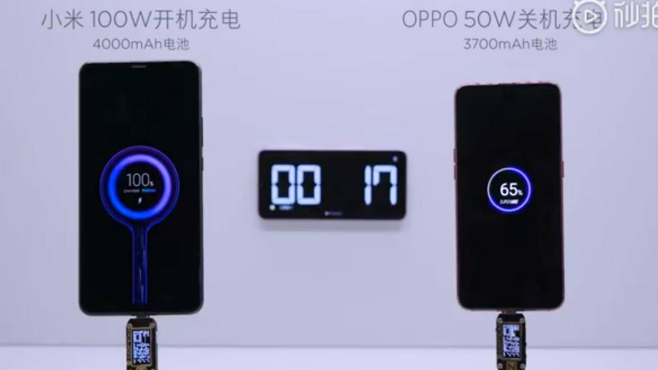 Xiaomi 100W quick charging tech is scary fast