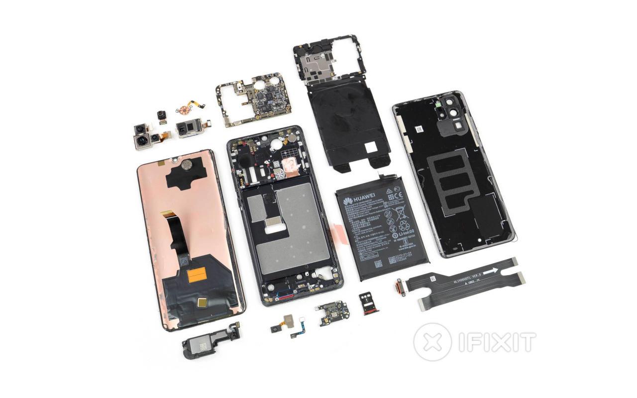 Huawei P30 Pro iFixit teardown reveals interesting design choices