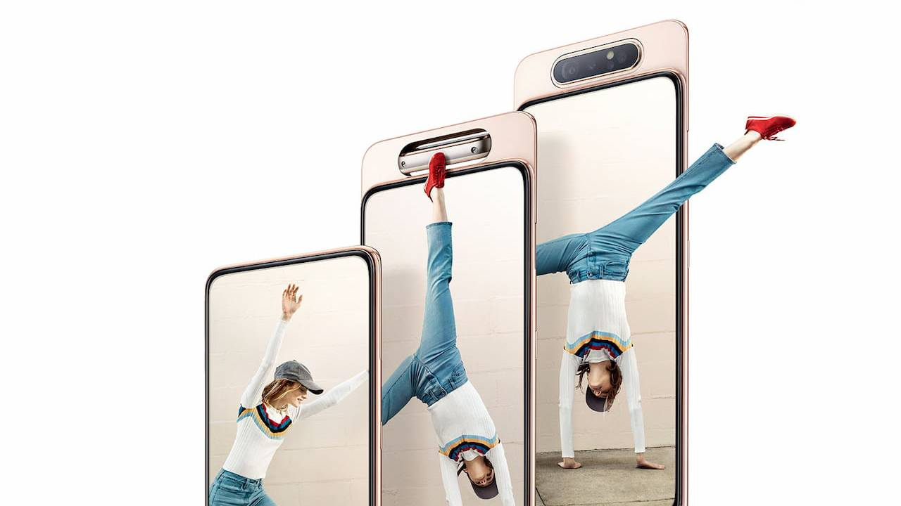 Samsung Galaxy A80 skips the notch with a mesmerizing pop-up rotating camera