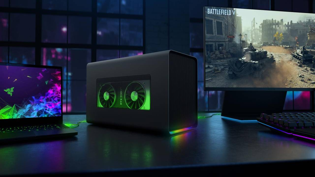 Razer Core X Chroma eGPU brings on the RGB lights, USB ports