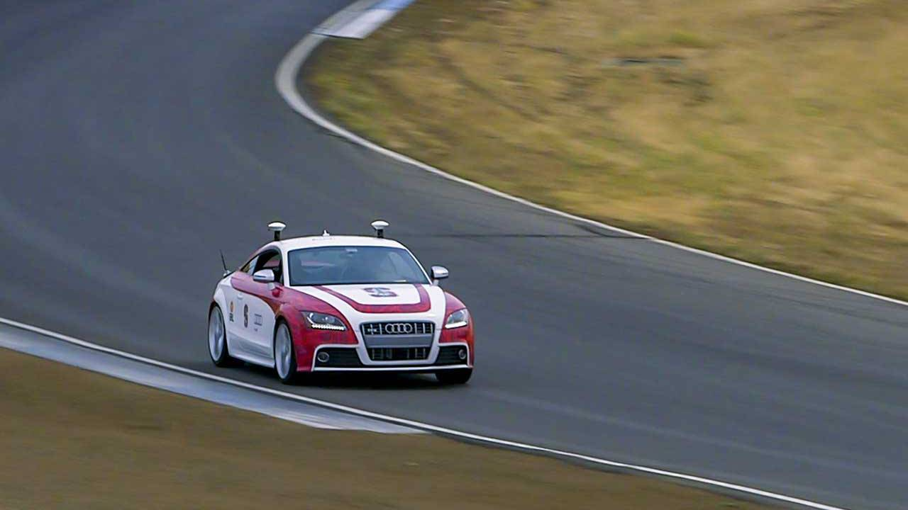 Stanford's autonomous cars take to the racetrack