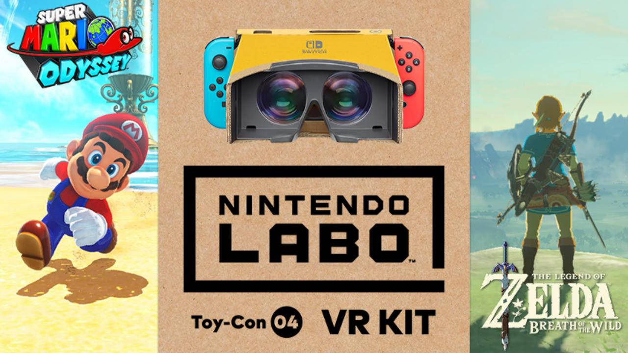 Nintendo Labo VR will work with Mario Odyssey and Breath of the Wild