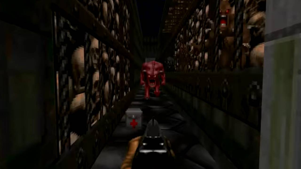 Doom 'Linear' mod packs entire game into single demonic hallway