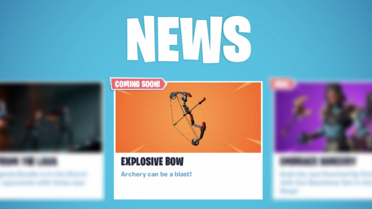 fortnite boom bow weapon is official everything we know so far - fortnite boom bow