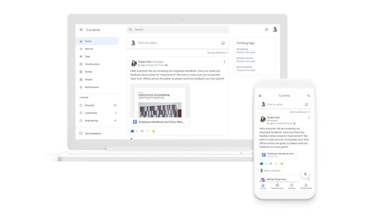 Google Currents resurrected as G Suite's Google+ replacement