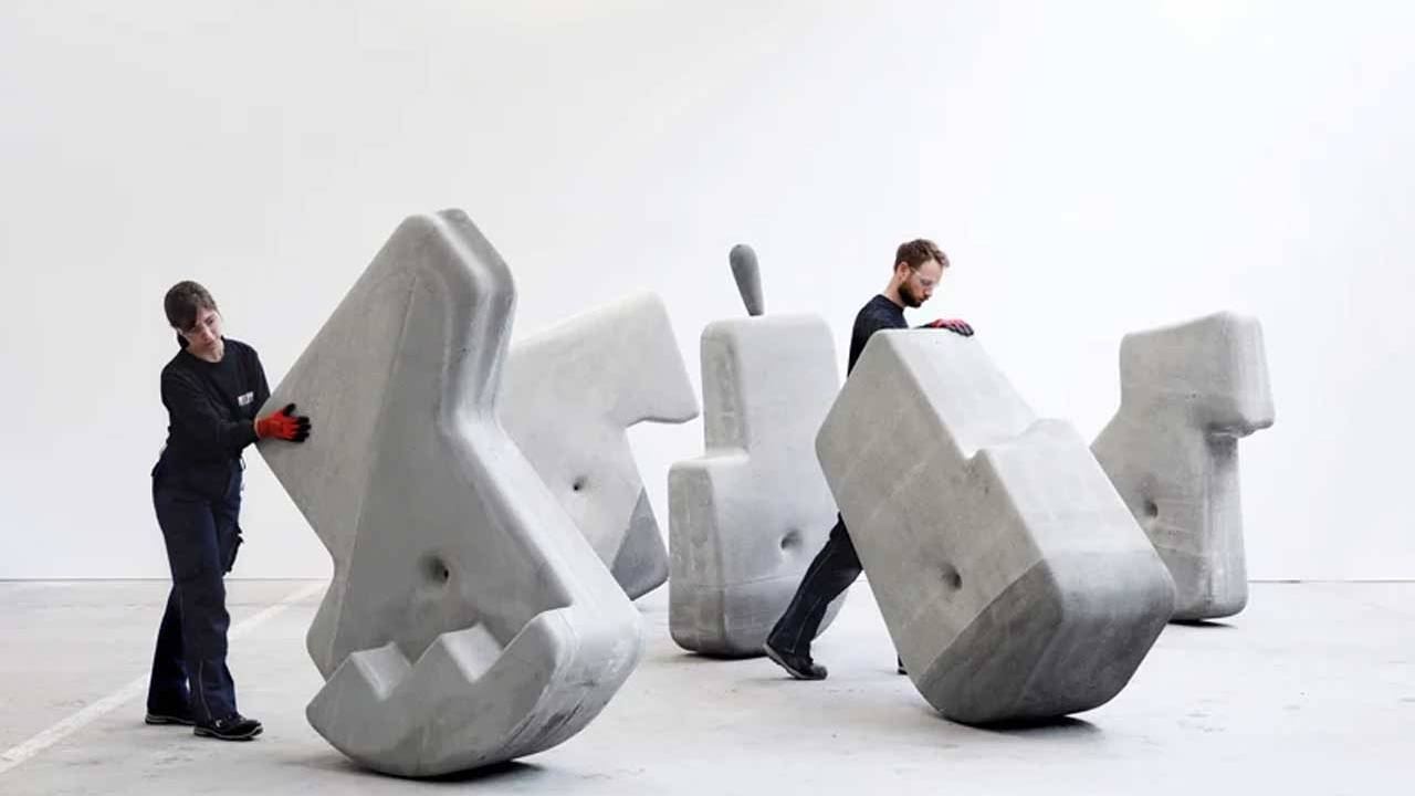 Researchers create massive concrete forms that can be moved by hand