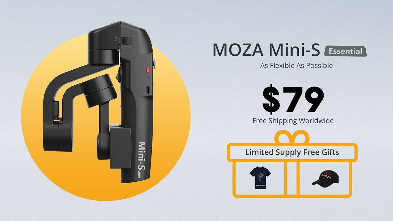 MOZA Mini-S smartphone gimbal fits your pocket, budget, and life