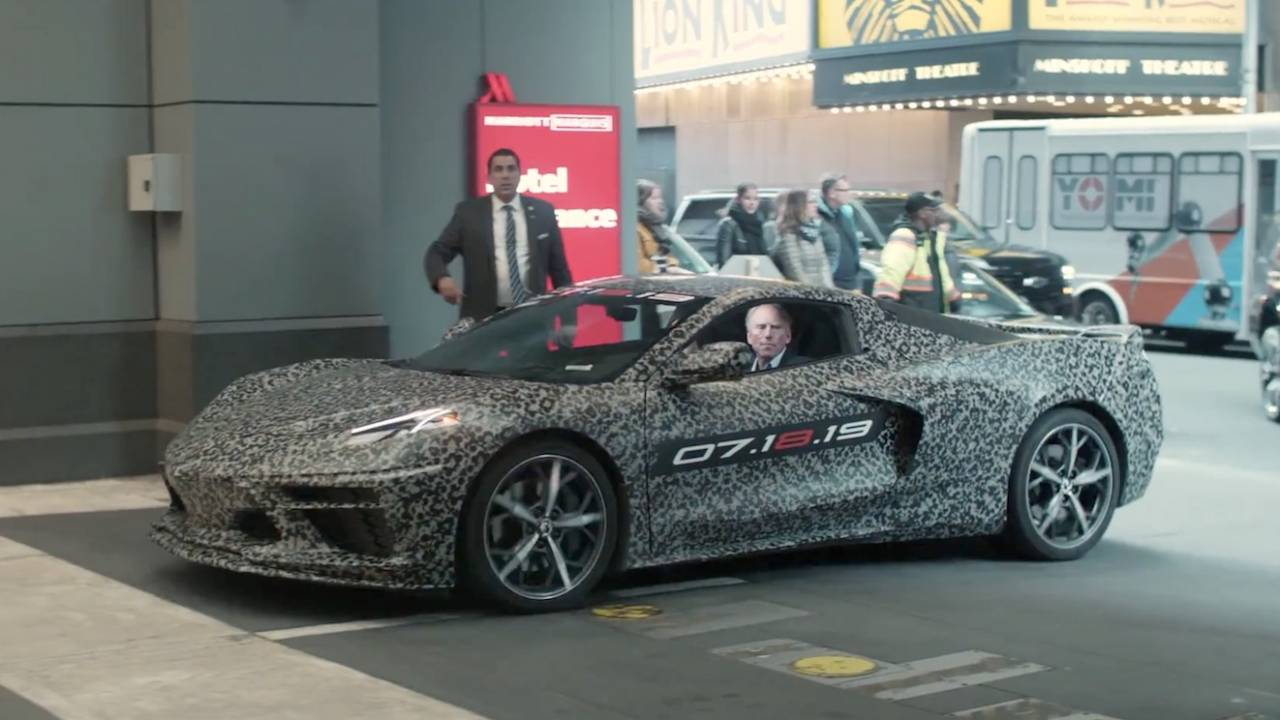Watch the 2020 Corvette make its shock mid-engined debut