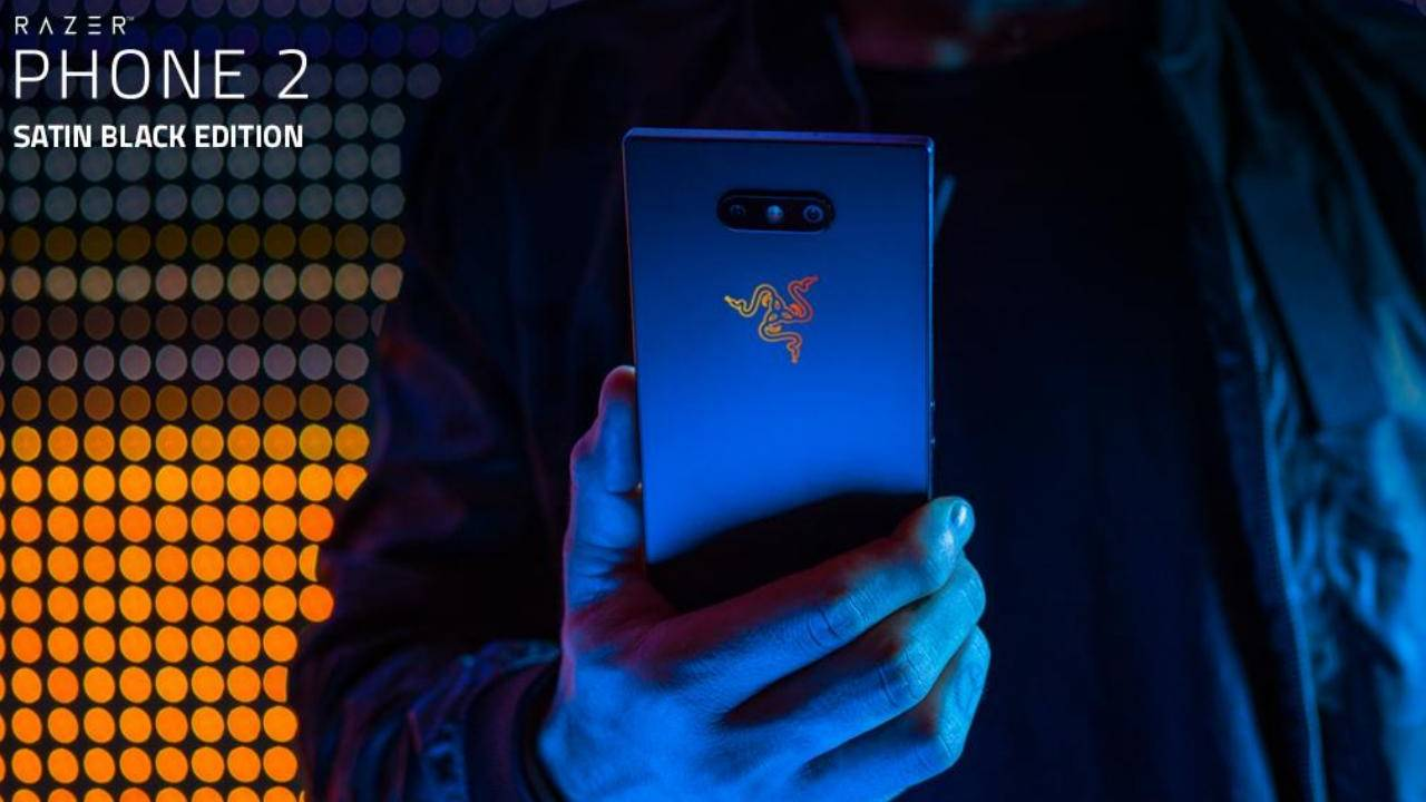 Razer Phone 2 in Satin Black available as an online store exclusive
