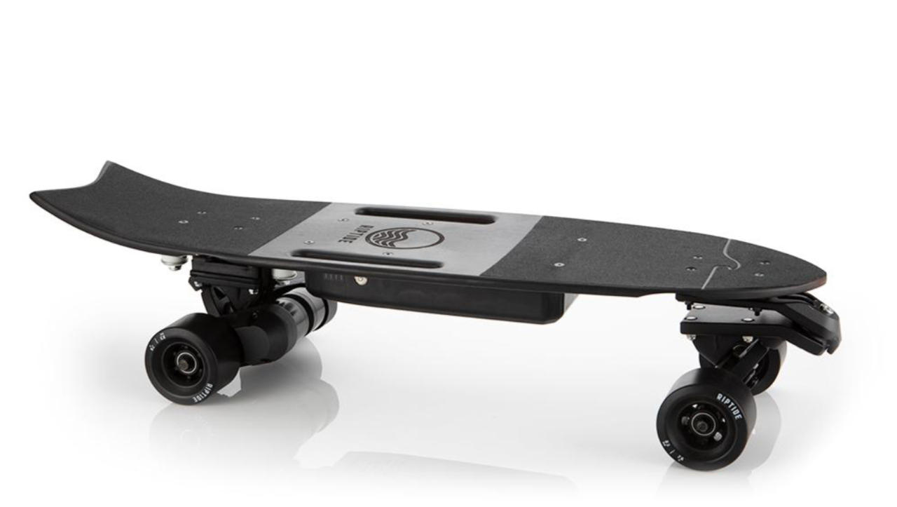 riptide r1 black electric skateboard s serious about carving