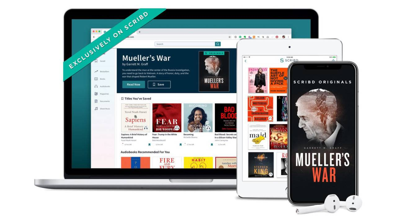 Scribd takes on Amazon with its own original ebooks and audiobooks