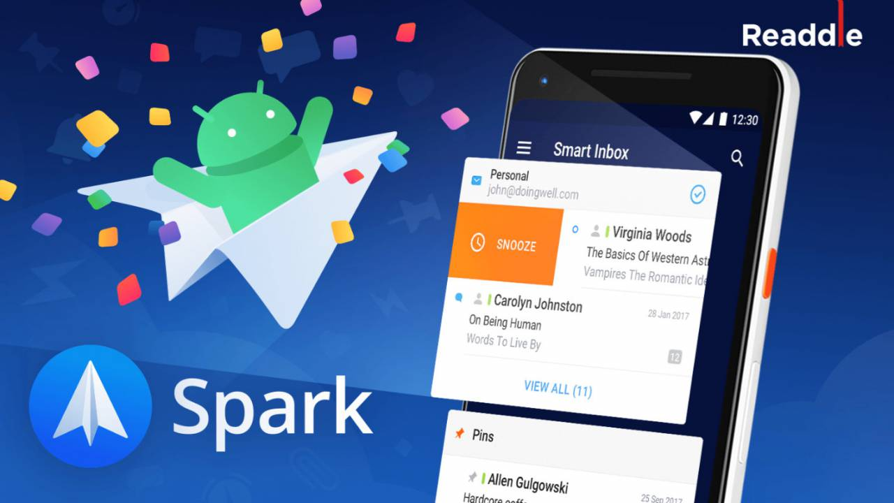 Spark Mail for Android released just in time to replace Google Inbox