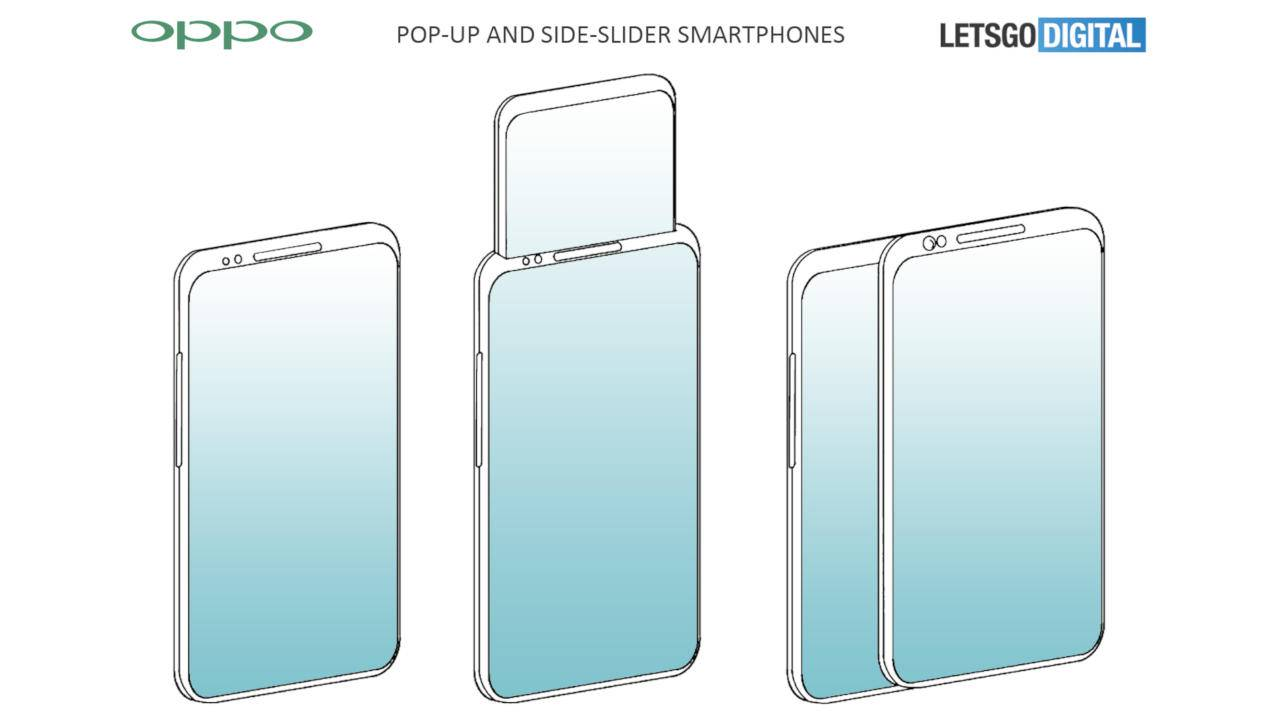 OPPO popup, slider second screen patent is as crazy as it sounds