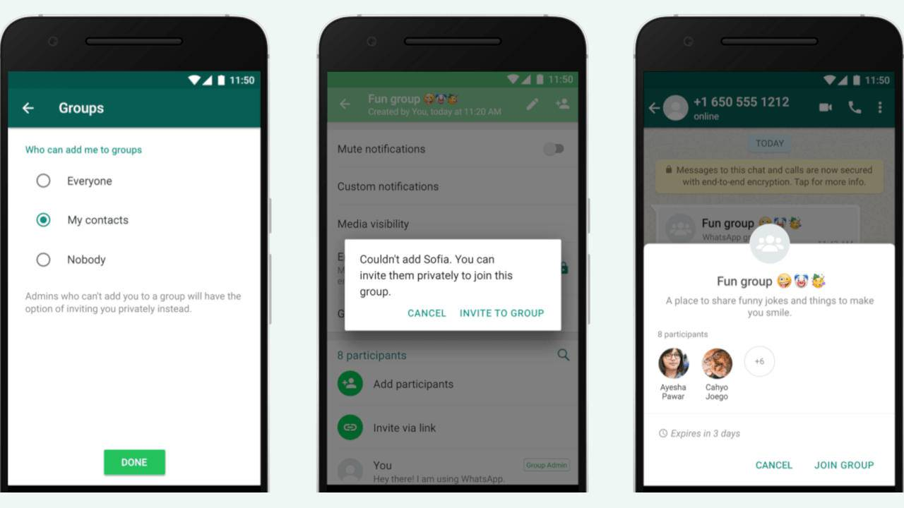 WhatsApp finally lets you decide who can add you to groups