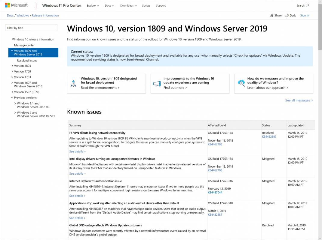 windows 10 1809 update erzwingen