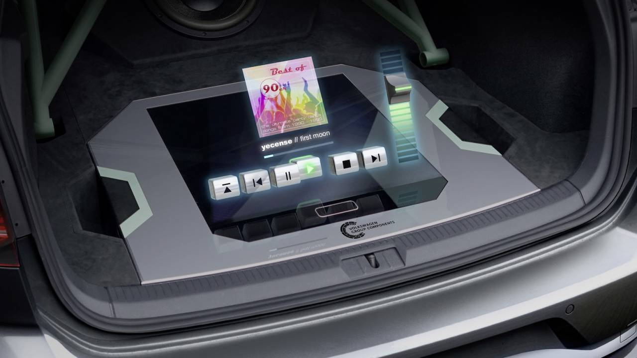 VW Golf GTI Aurora puts working holographic controls in a weird place