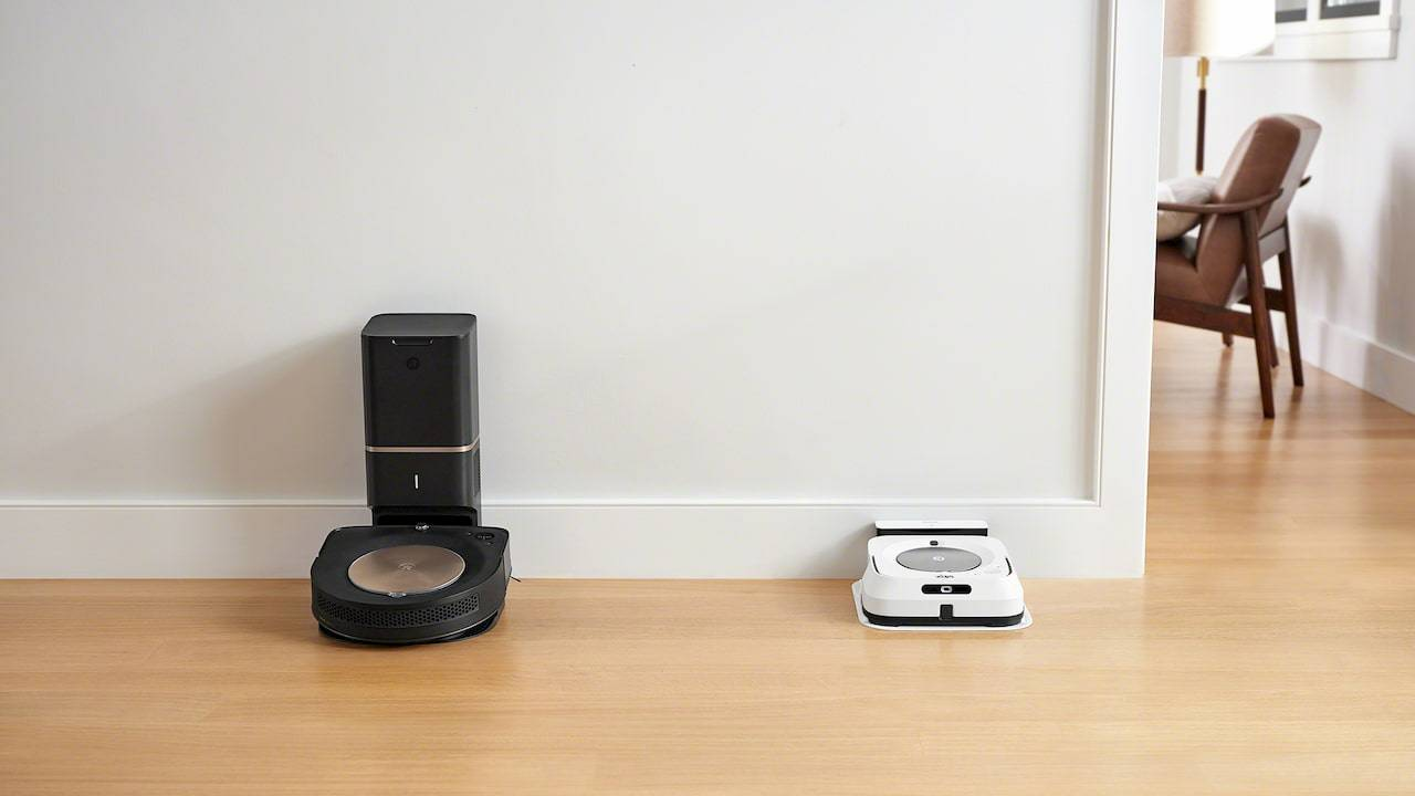 Roomba s9+ vacuum and Braava jet m6 mop work together to clean house