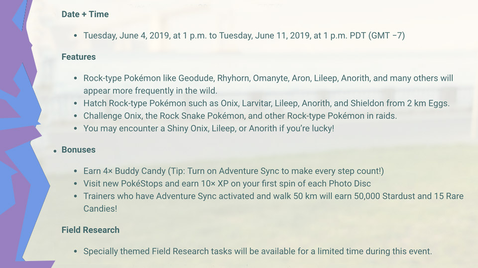 Shiny Pokemon GO for Adventure Week update with hints at new