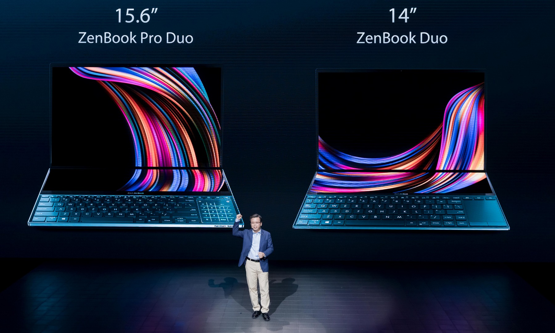 Asus Zenbook Pro Duo Puts A Large Second 4k Screen Above The Keyboard Slashgear