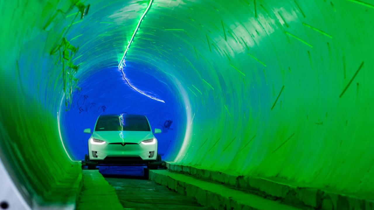 Watch Elon Musk's Boring Company race a tunnel Tesla against LA traffic
