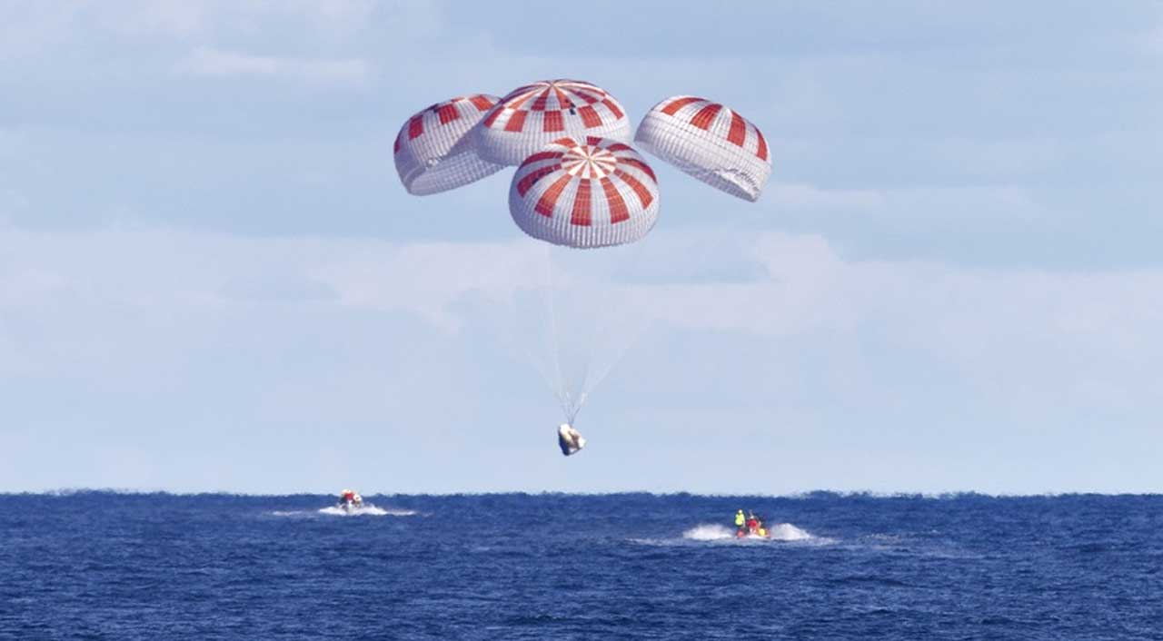 Space X Crew Dragon capsule parachute test failed - SlashGear
