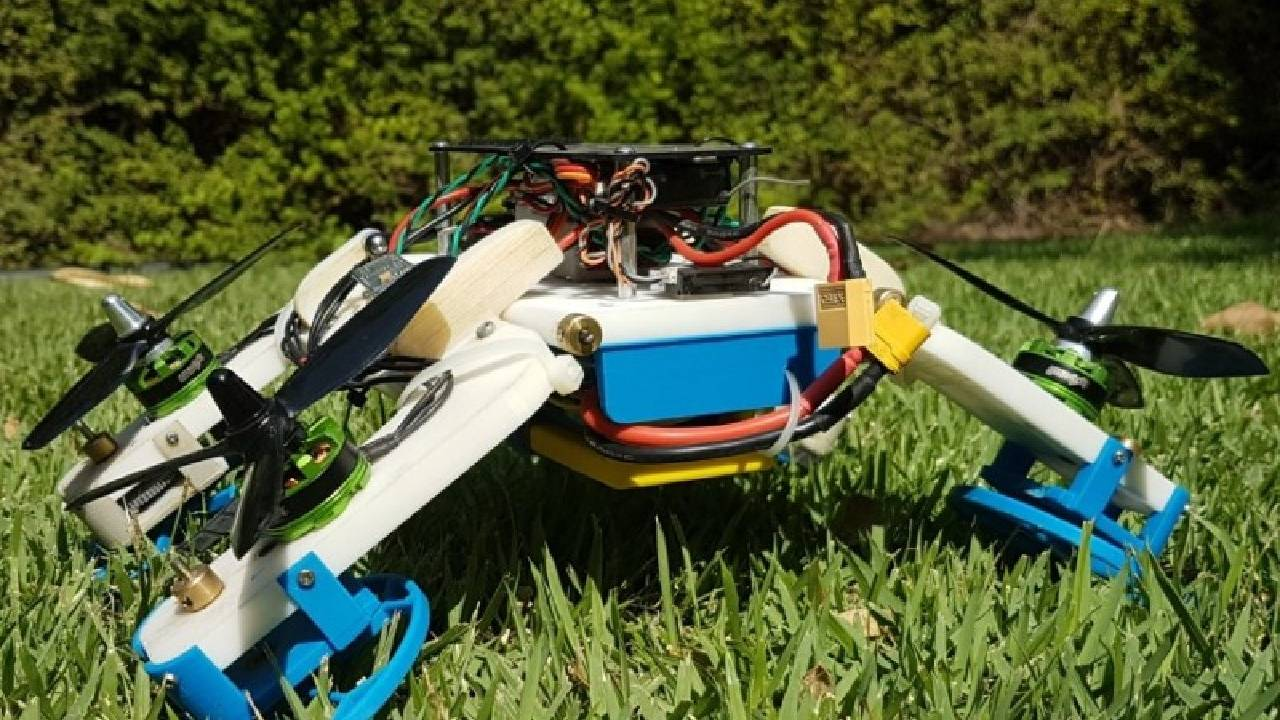 FSTAR robot flies or drives with a reconfigurable design