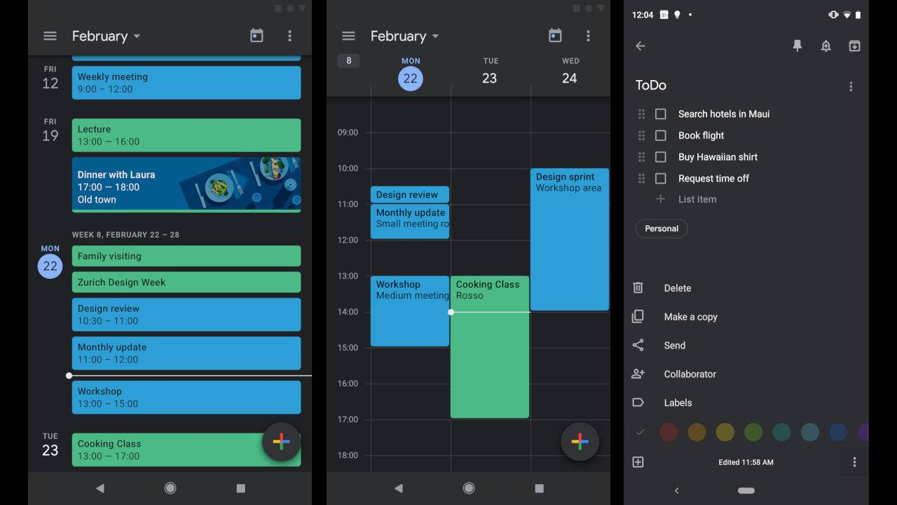 Android Calendar.Google Calendar And Google Keep Get Dark Mode On Android Slashgear