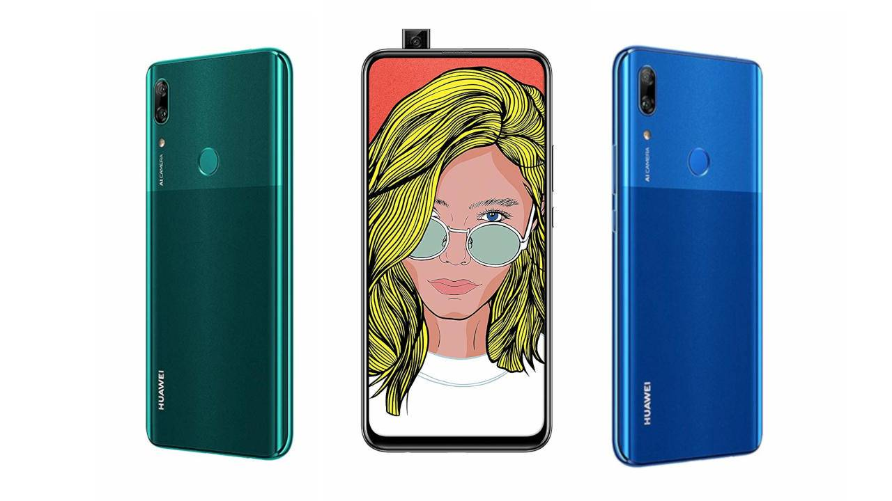 Huawei P Smart Z with its popup camera pops up on Amazon