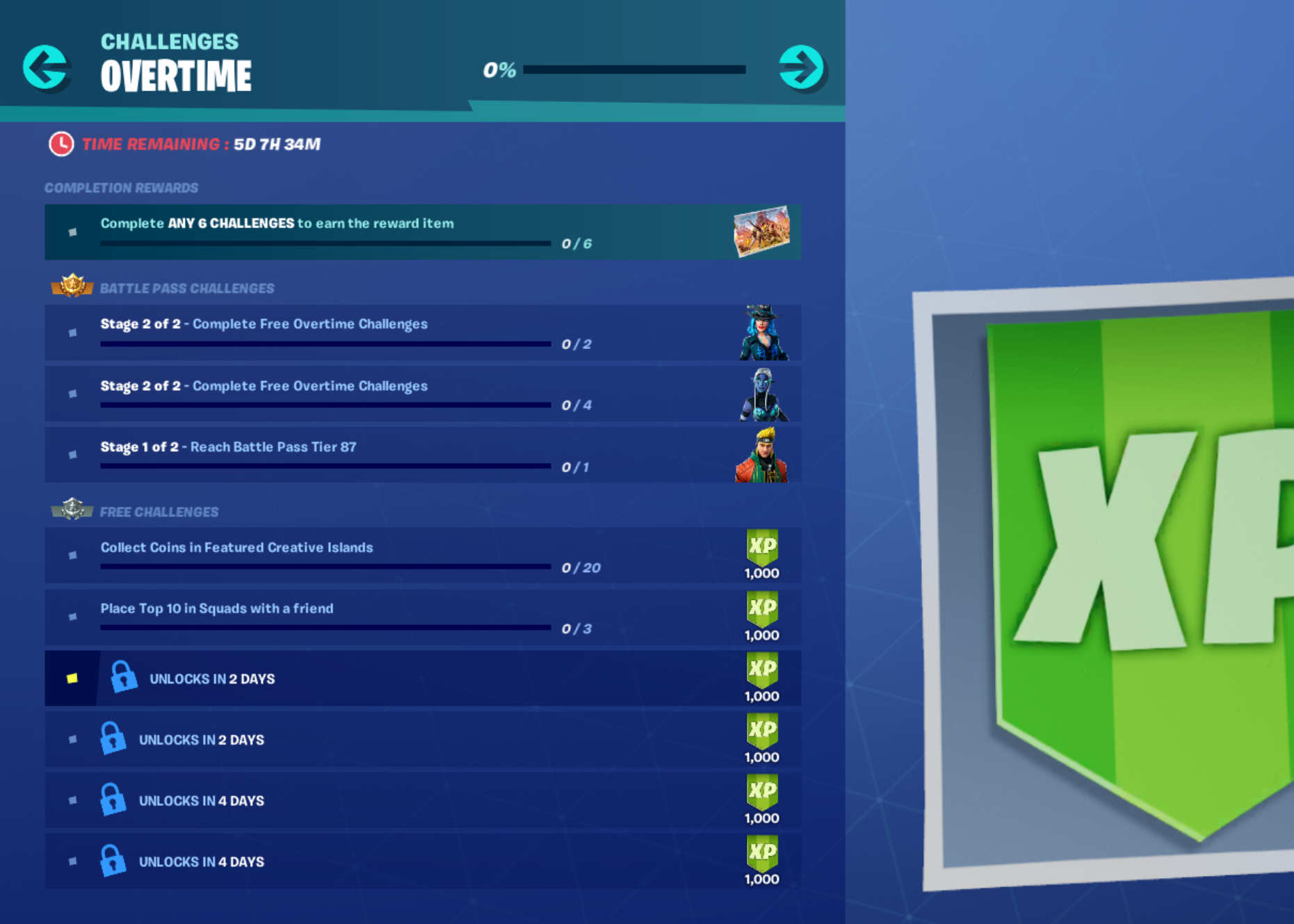 new sidewinder ember and master key styles are available for completing 2 4 and 6 overtime challenges but these are only open to battle pass holders - new fortnite challenges season 8