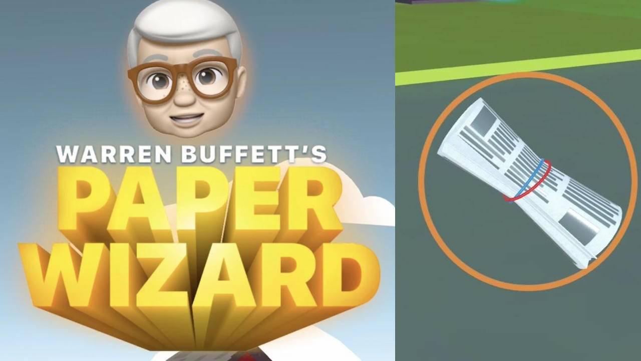 Apple's Warren Buffett Paper Wizard game shows it has a sense of humor