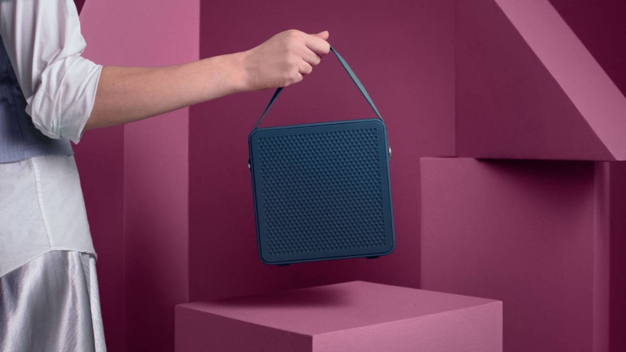 Urbanears Rålis portable cube-shaped speaker looks like a handbag
