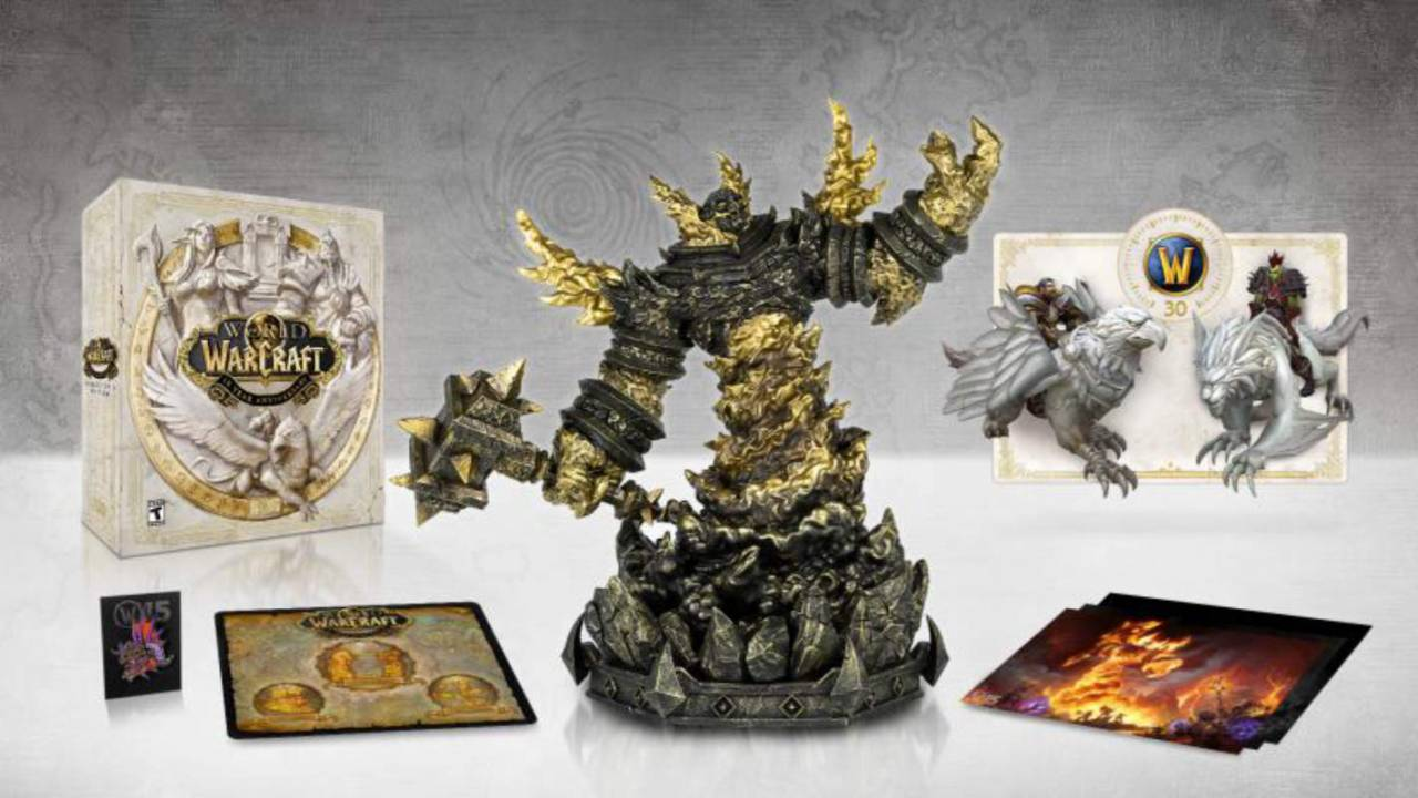World of Warcraft 15th Anniversary Collector's Edition includes 10″ figurine