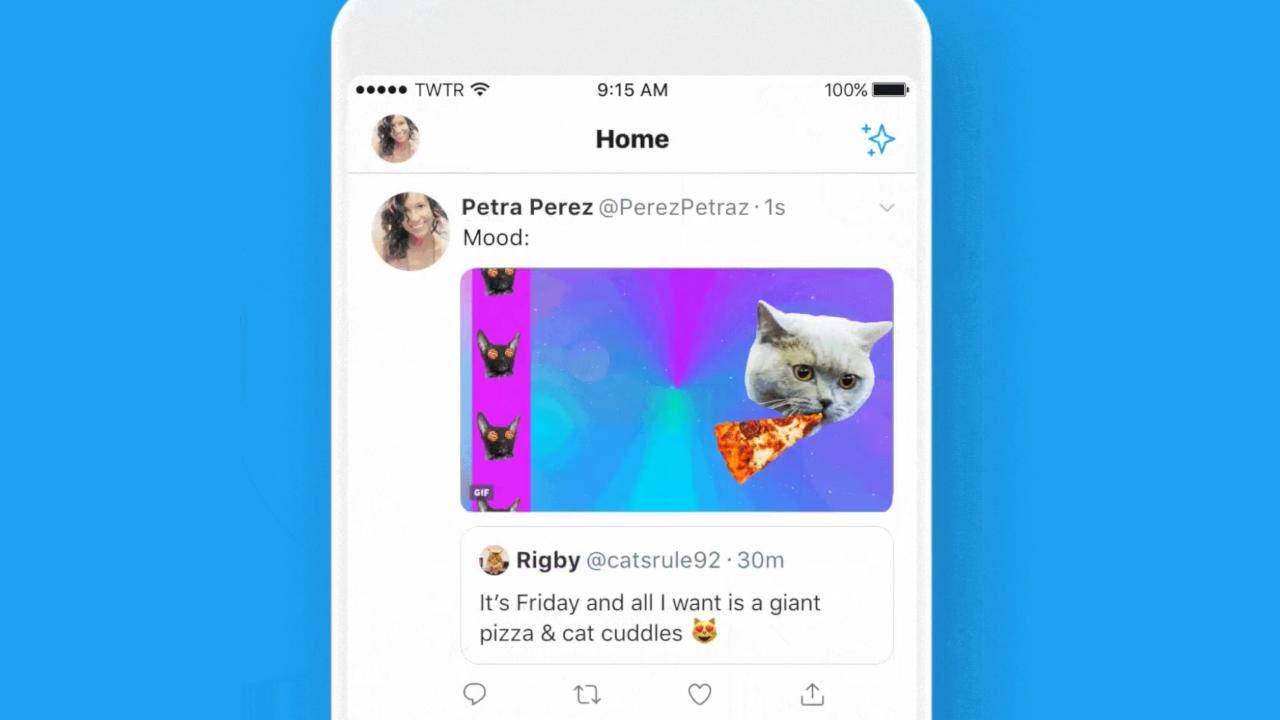 Twitter retweets can now contain photos, videos, and GIFs