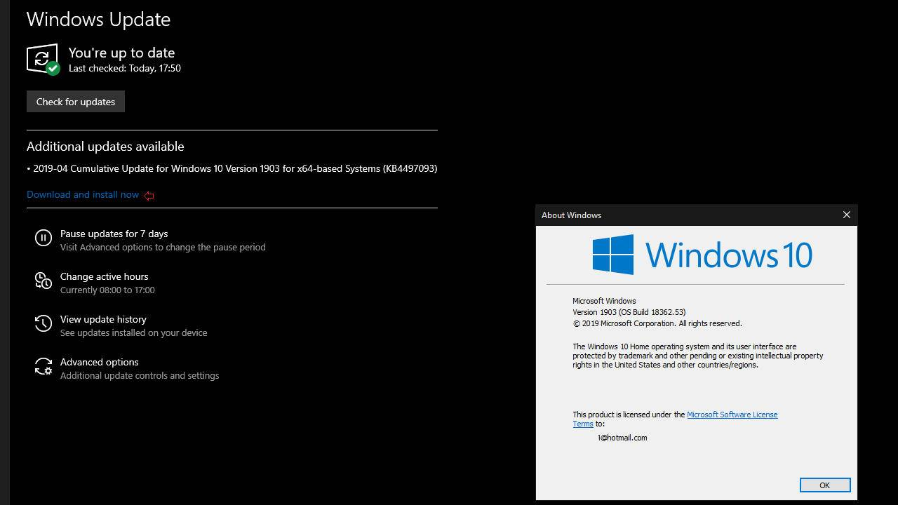 Windows 10 1903 to let users decide when to download and install updates