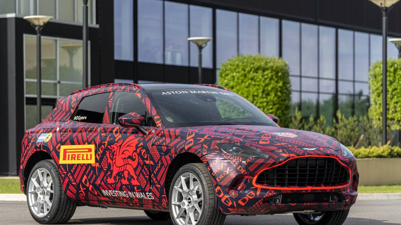 Aston Martin DBX spied again as automaker hits new milestone