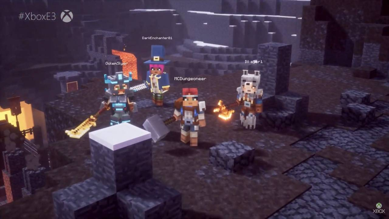 Minecraft Dungeons takes a page out of Diablo's book next year