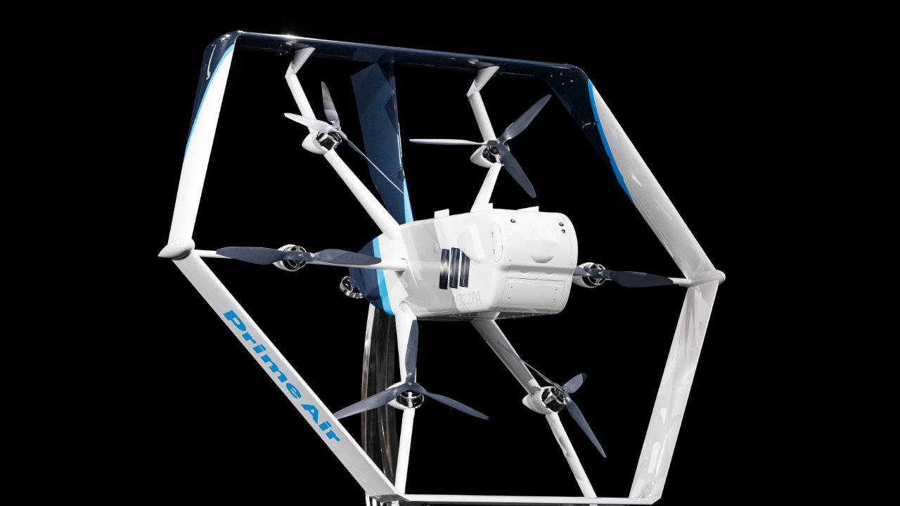 Amazon's new Prime Air delivery drone features hybrid design