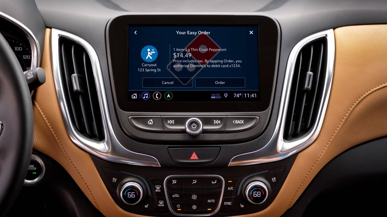 Now there's a Domino's pizza app for your Chevrolet dashboard